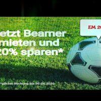 Beamer mieten und leihen in Aschaffenburg, Hanau, Miltenberg, Kahlgrund für die Fussball EM 2020 jetzt 20 Prozent sparen und leihen